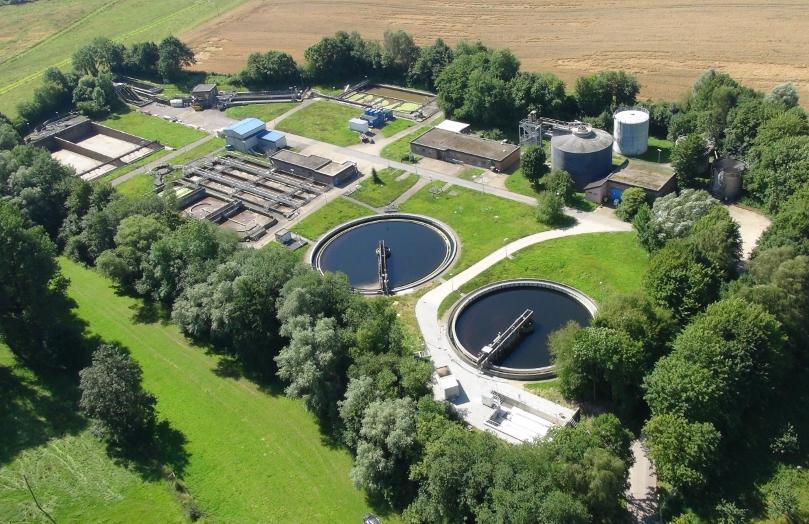 Foto: Luftbild der Kläranlage Aachen-Horbach