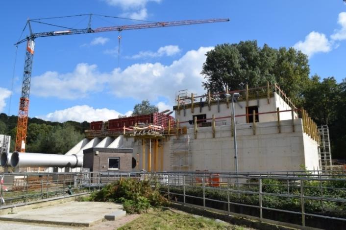 Bau der Ozonungsanlage auf der Kläranlage Aachen Soers